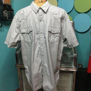 URBAN PIPELINE Striped Pearl Snap Shirt